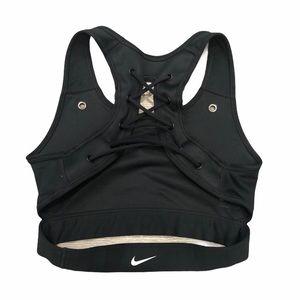 Nike Tank Style Sports Bra Swoosh Logo Open Back